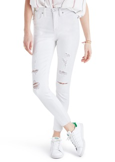 Madewell 9-Inch High-Rise Skinny Crop Jeans: Destructed Edition (Pure White)
