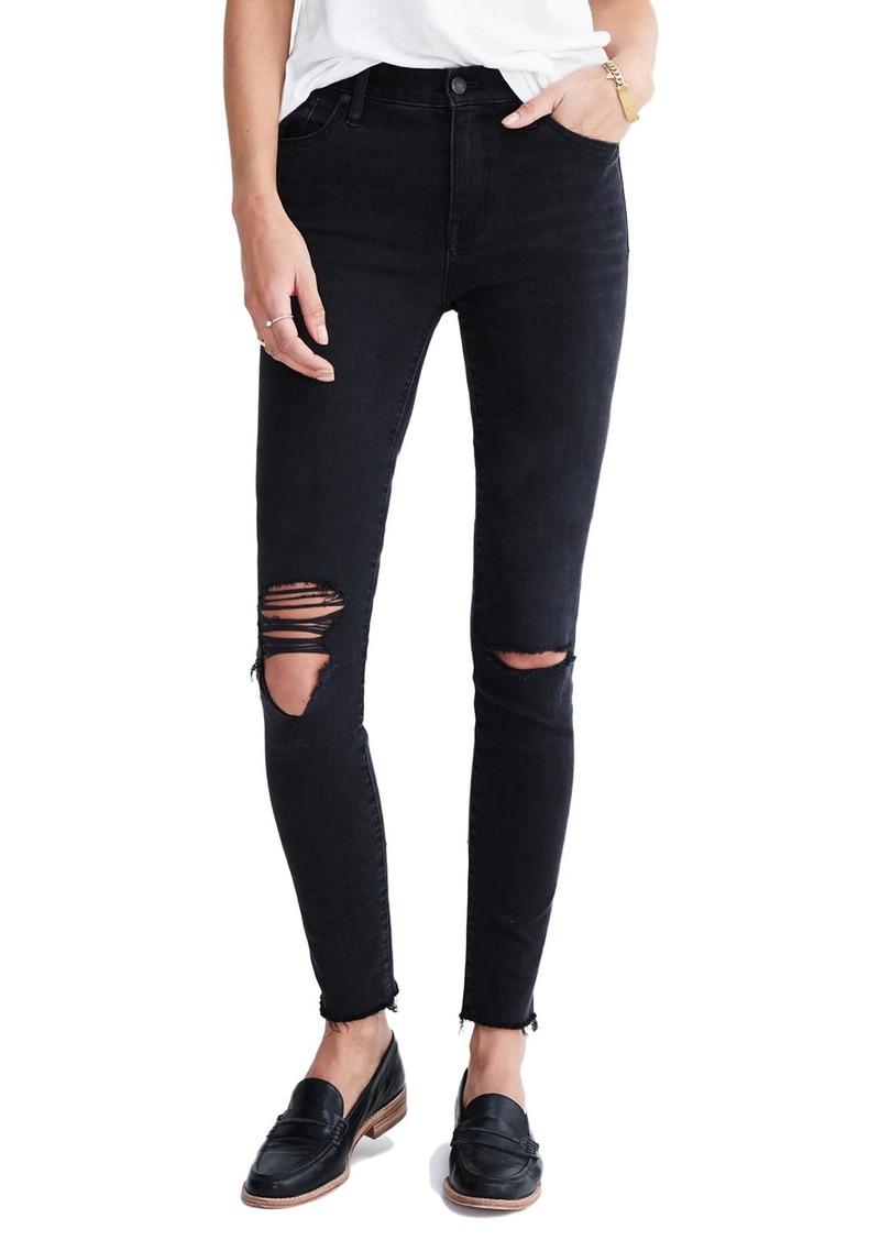 924d887025 Madewell Madewell 9-Inch High-Rise Skinny Jeans (Black Sea)   Denim