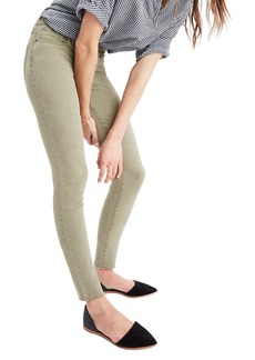 Madewell 9-Inch High-Rise Skinny Jeans: Raw-Hem Garment-Dyed Edition
