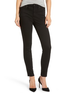 Madewell 9-Inch High Waist Skinny Jeans (Black Frost) (Petite)