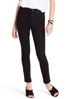Madewell 9-Inch High Waist Skinny Jeans (Black Frost) (Tall)
