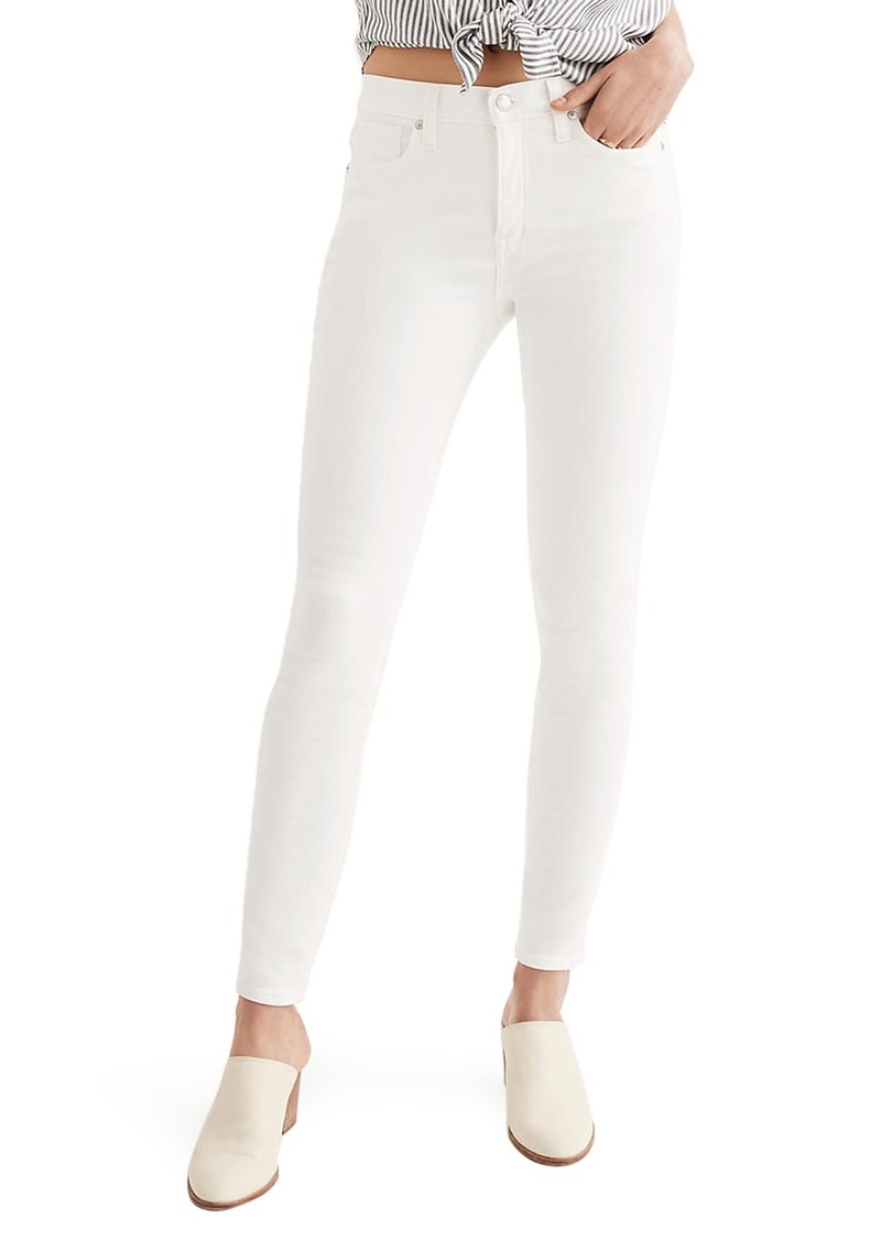 Madewell 9-Inch High Waist Skinny Jeans (Pure White)