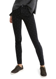 Madewell 9-Inch Metallic Dot Skinny Jeans (Glendale)