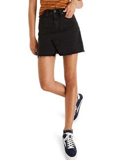 Madewell A-Line Rigid Denim Miniskirt (Colfax Wash)