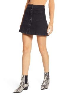 Madewell A-Line Stretch Denim Miniskirt