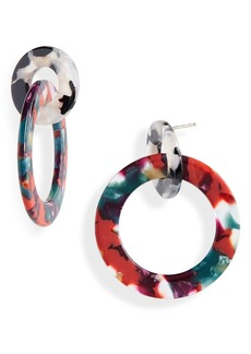 Madewell Acetate Double Hoop Earrings
