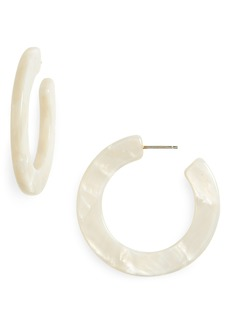 Madewell Acetate Hoop Earrings