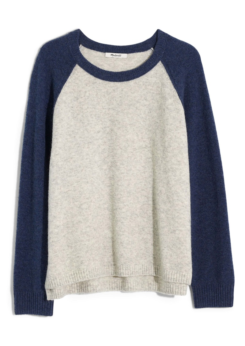 Madewell Allister Colorblock Coziest Yarn Sweater