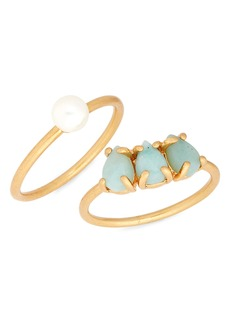 Madewell Amazonite Ring Set
