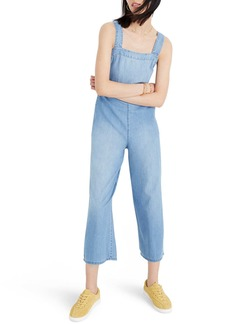 Madewell Apron Bow-Back Denim Jumpsuit