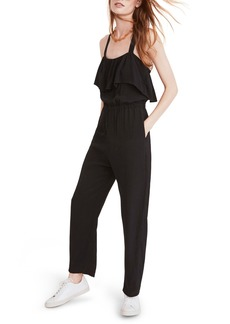 Madewell Apron Ruffle Jumpsuit