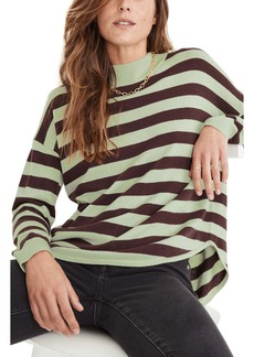 Madewell Ashbury Kelsey Stripe Mock Neck Sweater
