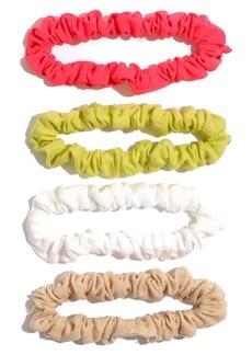 Madewell Assorted 4-Pack Skinny Scrunchies