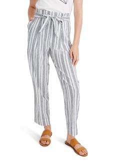 Madewell Baltic Stripe Paperbag Waist Pants