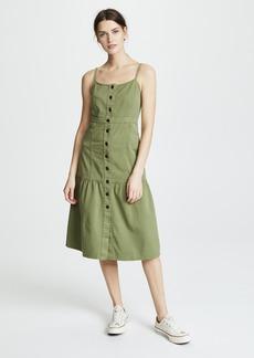 Madewell Bayview Tiered Midi Dress