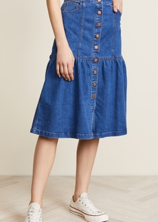 Madewell Bayview Tiered Midi Skirt