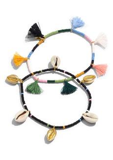 Madewell Beachside 2-Pack Tassel Bracelets