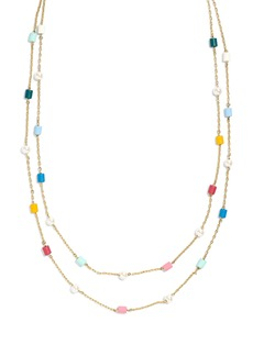 Madewell Beaded Imitation Pearl Layered Necklace