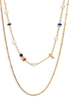 Madewell Beaded Imitation Pearl Necklace Set
