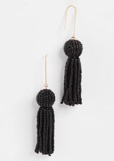 Madewell Beaded Tassel Earrings