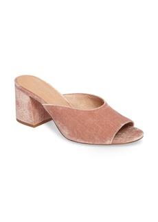 Madewell Beth Velvet Slide Sandal (Women)