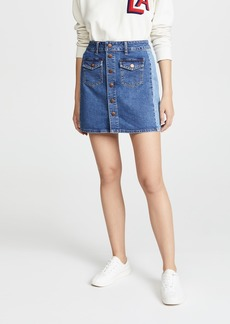 Madewell Beverly Pieced Jean Skirt