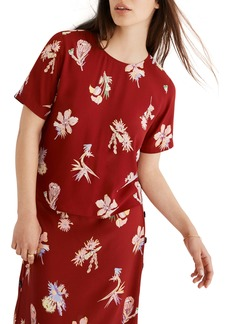 Madewell Bird of Paradise Button Back Top