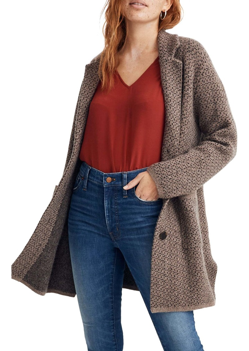 Madewell Bird's Eye Sweater Coat
