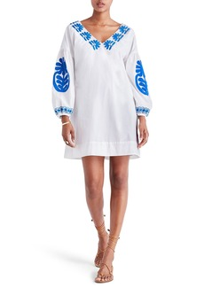 Madewell Blanca Embroidered Appliqué Shift Dress