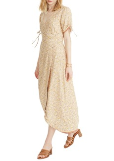 Madewell Blossoming Vines Peekaboo Sleeve Maxi Dress
