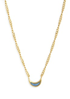 Madewell Blue Aventurine Crescent Moon Necklace