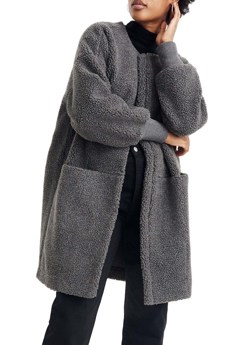 Madewell Bonded Fleece Cocoon Coat