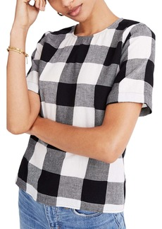 Madewell Boxy Button Back Top