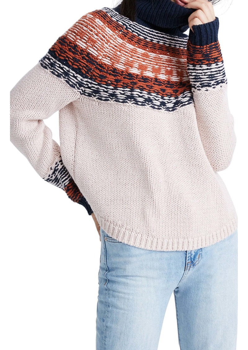 Madewell Brookdale Fair Isle Turtleneck Sweater