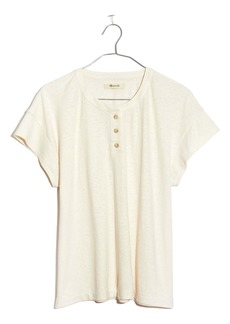 Madewell Brother Hemp & Cotton Henley T-Shirt