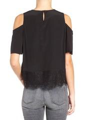Madewell Brynn Cold Shoulder Silk Blouse