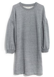 Madewell Bubble Sleeve Sweatshirt Dress