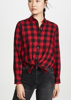 Madewell Buffalo Check Tie Front Button Down