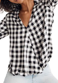 Madewell Buffalo Check Wrap Front Shirt