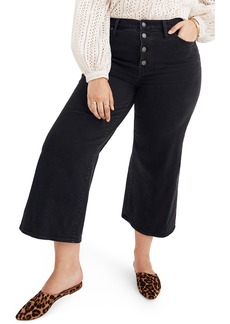 Madewell Button Fly Crop Wide Leg Jeans (Lunar)