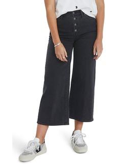 Madewell Button Fly Crop Wide Leg Jeans (Lunar)