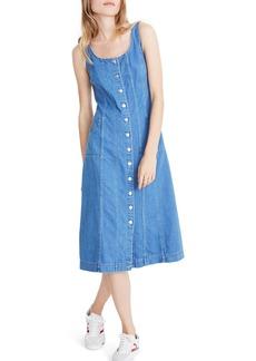 Madewell Button Front Denim Midi Dress