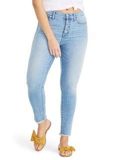 Madewell Button Front High Waist Crop Skinny Jeans (Denton Wash)
