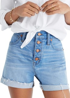 Madewell Button Front High Waist Denim Shorts (Poppins Wash)