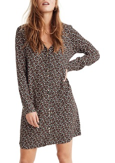 Madewell Button Front Mini Dress