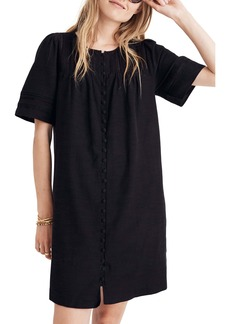 Madewell Button Front Pleated Shift Dress