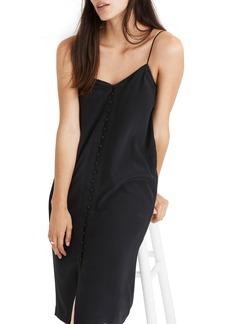 Madewell Button Front Silk Slipdress