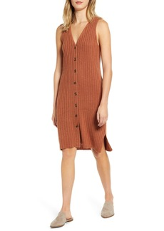 Madewell Button Front Tank Sweater Dress