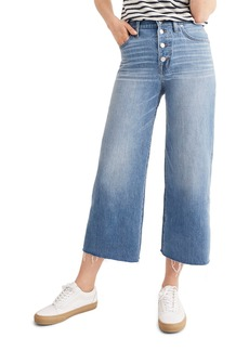 Madewell Button Front Wide Leg Crop Jeans (Martina Wash)