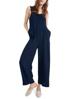 Madewell Button Front Wide Leg Jumpsuit